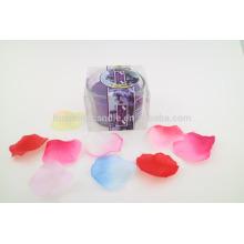 Melhor perfumado soja velas de luxo rodada vidro jar vela em saco de PVC vela fazendo fornecimentos