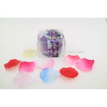 Mejores velas perfumadas de soja de lujo de vidrio redondo jarra de vela en bolsa de PVC vela haciendo suministros
