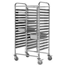Stainless Steel 304 Double-Line GN Pan Trolley