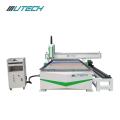 Machine de commande numérique par ordinateur de bois de gravure de porte / industrie de meubles utilisant