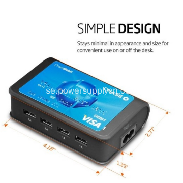 Universal Travel Charger 4-Port USB Charging Station