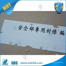 Etiqueta destrutível, etiqueta de papel frágil, etiqueta autocolante auto adesivo adesivo destrutível