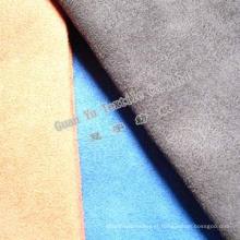 Tela do sofá de veludo do poliéster em relevo camurça (G69-16)