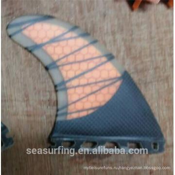 2016 сделанные ФТС Г3 половина углерода оранжевый будущее плавник серфинга по продвижению