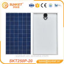 o uso home cobre o painel solar poli 250w com os certificados do ISO do TUV CE