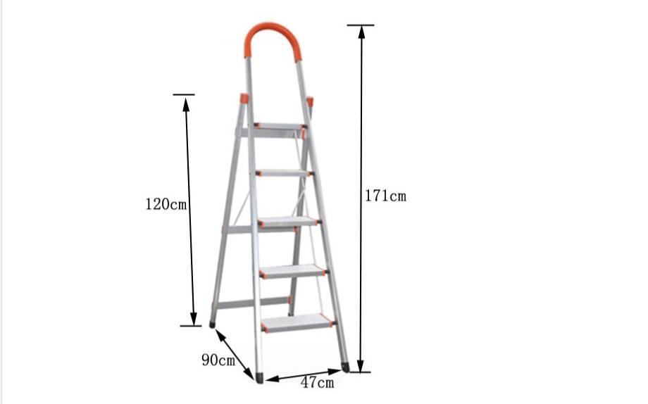 D type 6 steps household ladder