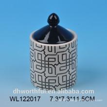 2016 moda design fábrica de venda directa cerâmica alimentos selados frasco