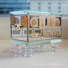 Мода дизайн кристаллическая коробка украшений для свадебных подарков сувениры и украшения