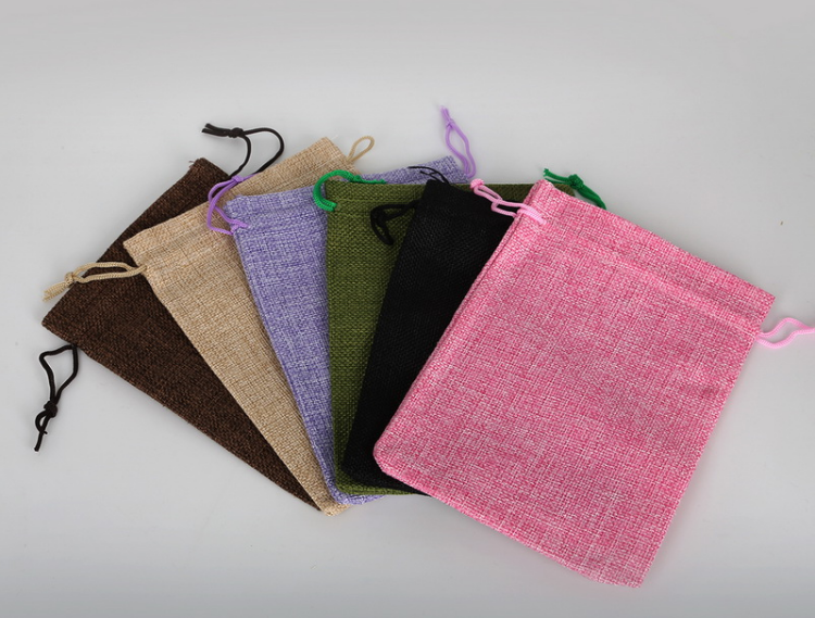 jute bag with cotton cord