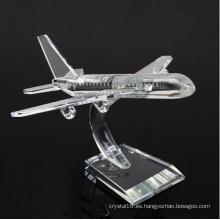 Regalos de decoración de negocios K9 Crystal Plane Model