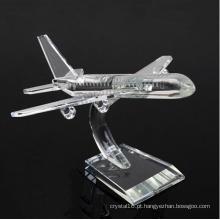 Presentes de decoração de negócios K9 Crystal Plane Model