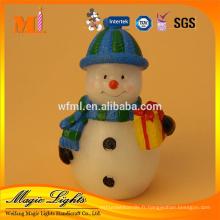 Bougie personnalisée de Noël de bonhomme de neige de prix concurrentiel avec le certificat BRC