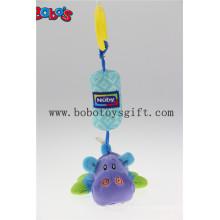 Super Cute Plush Hippo carrinho de passeio Pram Hanging Brinquedos Multifuncionais para crianças Berço