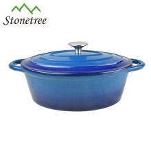 Potenciômetro / Cookware / Cookware quentes quentes da caçarola térmica do ferro fundido do esmalte azul