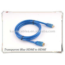 Câble HDMI bleu transparent pour 1080p PS3 HDTV