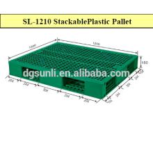 Paletes de plástico grade padrão dobro-lado