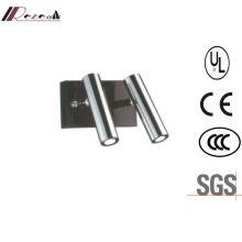 Lámpara de pared LED de doble lectura de acero inoxidable