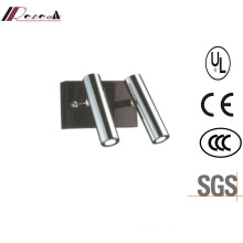 Stainless Steel Bedside Double Reading LED Wall Lighting