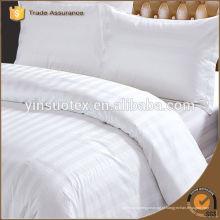 Tecido de hotel de algodão branco para conjunto de cama