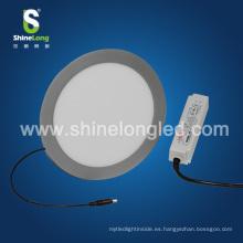 Fábrica de Shenzhen 4 pulgadas 120mm 5W superficie montada redonda llevó la luz del panel