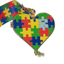 Wholesale Cheap Custom Design Your Own Blank Zinc Alloy 3D Gold Metal Children's jigsaw puzzle Sport Medal Ribbon
