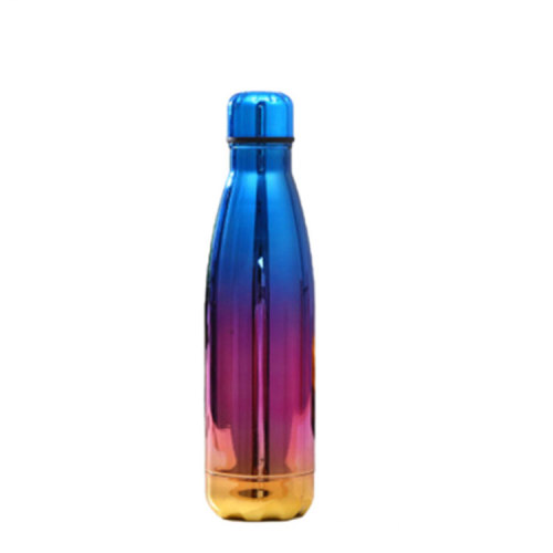 Custom 500ml Vacuum Insulated Thermal Metal Sports Gym Foldable Water Bottles