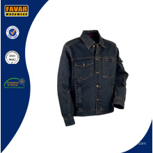 Männer Heavyweight Wearable Washed Denim Work Jacket
