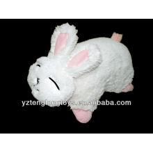 Lindo y lindo conejo en forma de plegable peluche de juguete almohada