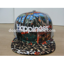 high quality custom Leopard flat hats with 3D embroidery