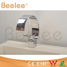 New Big C Type Chromed Brass Single Handle Waterfall Bathroom Basin Faucet