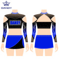 Hot Sale Cheerleading Uniformen mit Strass