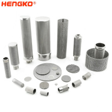 Stainless Steel  SS316 Sintered Mesh Filter Cartridges - Pleated Structure for Larger Filtering Surface