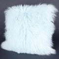 Housse de coussin en laine de mouton mongole douce