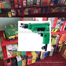 India Ventas calientes 6.5mm / 10m m 230w Energía Mini máquina manual portable del taladro de la mano Pequeño taladro eléctrico recto