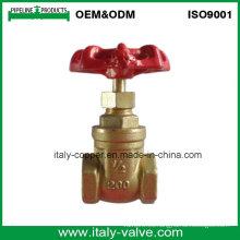 Tipo de válvula de puerta forjada latón del OEM Italia (AV4056)