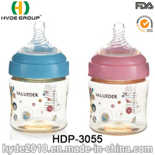 Segurança PPSU BPA livre plástico bebê mamadeira, 240ml plástico alimentador mamadeira (HDP-3055)