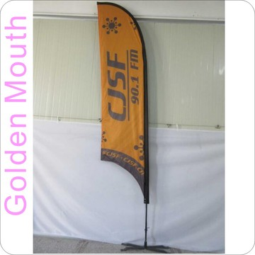 Benutzerdefinierte 13ft Feder Concave Flags