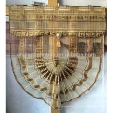 Ouro em forma de leque em forma de cortina cortina cortina romana para dubai