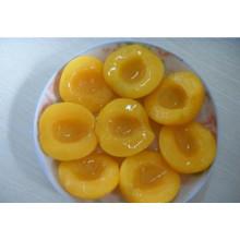 Pêssego amarelo em conserva em alta qualidade