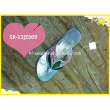 2015 New ladies Flip Flop Slipper shoes with color upper and sole