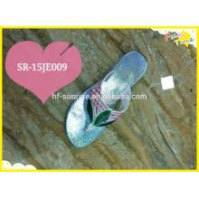 2015 Sapatos de Senhoras Flip Flop Slipper com parte superior e sola de cor