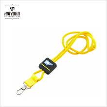 Custom EDM doble clip de cuerda redonda de cuero de poliéster llano balón de fútbol retráctil Lanyard