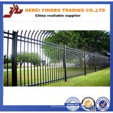 Panneau de clôture en fer à tête noire et en acier inoxydable certifié de qualité
