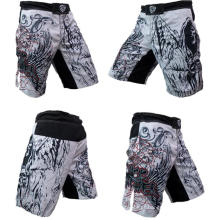 Custom MMA Shorts Sublimated Imprimir 4 Way Stretch Crossfit Shorts Atacado