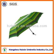 Guarda-chuva de Strip de guarda-chuva/verde do arco-íris