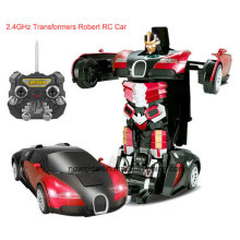 Rechargeable 2.4G Radio Plastic Deformation Robot RC Model Car