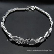 Venta directa de la fábrica de la manera 925 pulseras de plata BSS-005 de la joyería