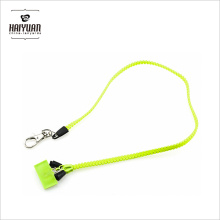 Prix compétitif Factory Directly Plastic Zipper Lanyards with PVC Puller