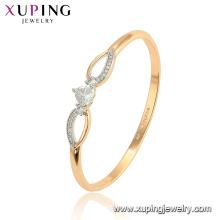 52113 xuping moda ambiental cobre aleación de oro brazaletes de las mujeres