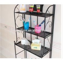 Металлический 3 Полки Ванная Комната Для Хранения Устроитель Малоразмерное Полотенце На Стойку Бачок